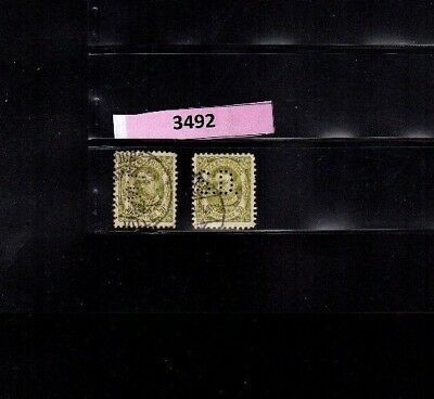 3492 Luxembourg - G.D. Guillaume Wilhelm USED PERFIN stamps 30 Cents