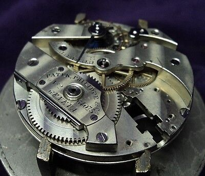 "1880s Patek Philippe 20''' (45.5mm) 18J Partial Pocket Watch Movement- ""as-is"""
