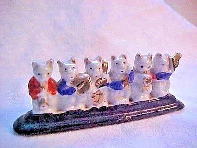 Vintage or Older Porcelain Figurine * 6 Cats playing in a band * Made in Japan