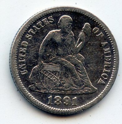 1891-p SEATED LIBERTY DIME - SCARCE !! (SEE PROMO)