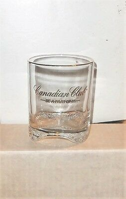 New 4 Canadian Club Whiskey Be A Part Of It Gold Rim Wave Bottom Glasses + Shot