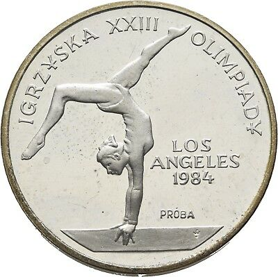 LANZ Polen 500 Zlotych 1983 Olympia Los Angeles Turnerin PP Proba Silber €TEZ715