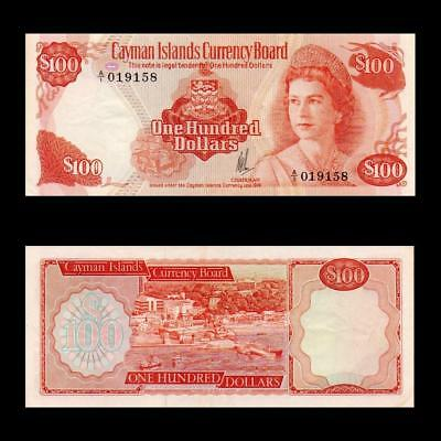 "1974 British Cayman Islands ""a/1 Issue"" (Qe Ii), $100 » Cv $1200 « ~X. Rare~"