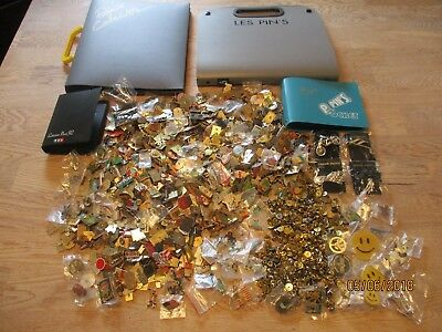 Over 920 MASSIVE JOB LOT NEW & VINTAGE CLUB CHARITY PIN BADGE BROOCH + FOLDERS
