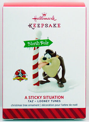 2014 A STICKY SITUATION NEW Hallmark TAZ Looney Tunes Ornament Tasmanian Devil