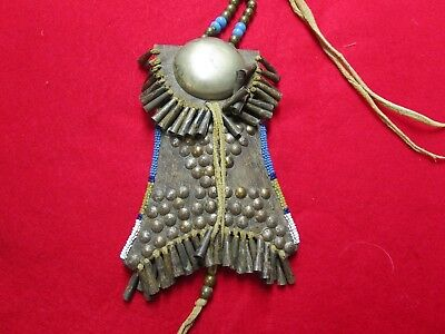 Beaded And Tacked Strike A Lite Bag.