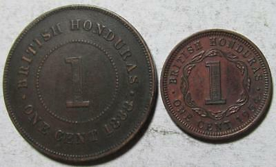 British Honduras, Cents, 1888, Very Fine & 1954, Extra Fine, Bronze