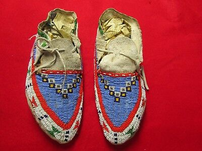 1116. Sioux Full Beaded Moccasins.
