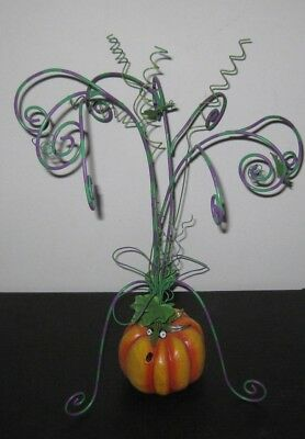 Patience Brewster Dept 56 Krinkles Mini Halloween Ornament Display Pumpkin Tree