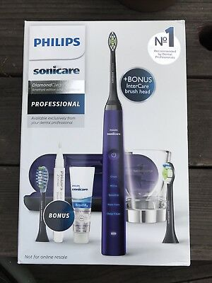 Philips Sonicare 9500 DiamonClean Smart E Toothbrush With Bonus Items In Purple
