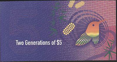 Australia 5 Dollars 2015 2016 UNC NEW Polymer in bank folder