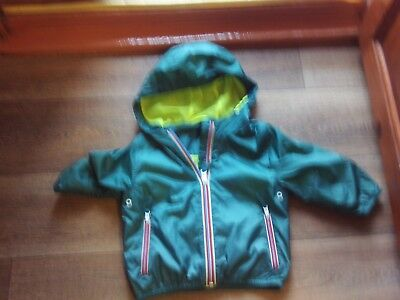 New Baby Boys Next Green Hooded Waterproof Lightweight Jacket Size 12 - 18 month