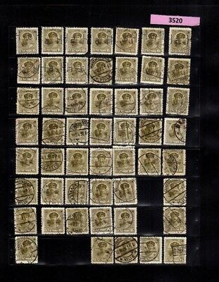 3520 Luxembourg - G.D. Charlotte lovely selection of USED stamps 15 Cents PERFIN