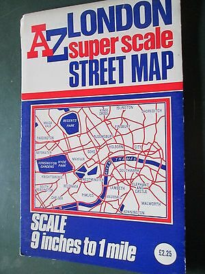 AZ LONDON super scale Street Map with index folding map