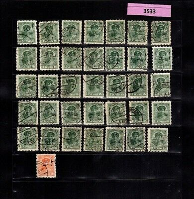 3533 Luxembourg - G.D. Charlotte lovely 25/20 Cents USED stamps PERFIN