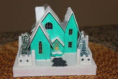 Christopher Radko Shiny Brite Mica Christmas Holiday Building Village House