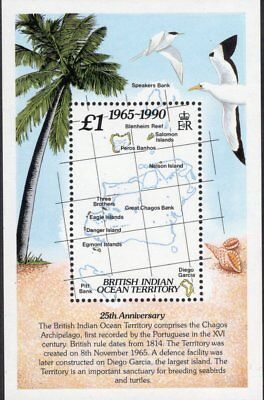 British Indian Ocean Territory 1990 25th Anniversary sheet UM (MNH)