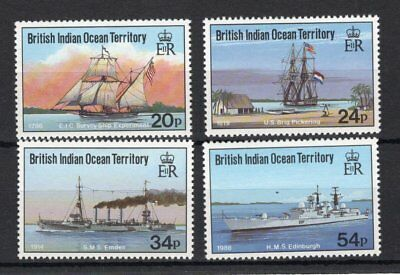 British Indian Ocean Territory 1991 Visiting Ships set UM (MNH)