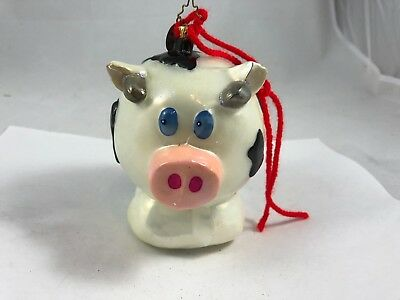 "Christopher Radko Christmas Ornament Cow Pig ""Eugenia"" *"