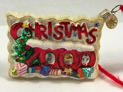 "Christopher Radko Christmas Ornament Christmas 2000 Post Card ""Postmark"" *"