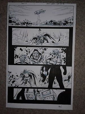 MARVEL A + X 17 pg 1  DOCTOR DOOM VS CAPTAIN AMERICA SPECTACULAR PAGE