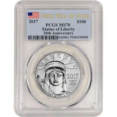 2017 American Platinum Eagle (1 oz) $100 - PCGS MS70 - First Day Issue