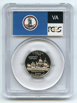 2000 S 25C Clad Virginia Quarter PCGS PR70DCAM
