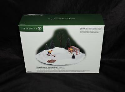 Department Dept 56 Snow Village Animated Hockey Player Ice Rink Goalie Holiday