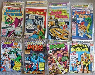 Lot of 44 DOOM PATROL silver age DC comics incl. 5 MY GREATEST ADVENTURE + bonus
