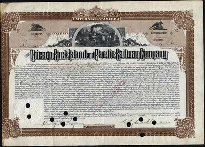 $10,000 Chicago, Rock Island And Pacific Railway Co, 1890 Bond