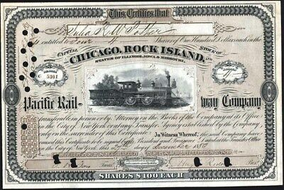 Chicago, Rock Island And Pacific Rail - Way Co, 1883, Abnco, New York