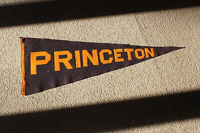 "1910's Princeton University oversized 34"" felt college pennant w/sewn letters"