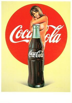 Lola Cola by Mel Ramos Coca-Cola Coke Nude Pop Art Pinup Postcard