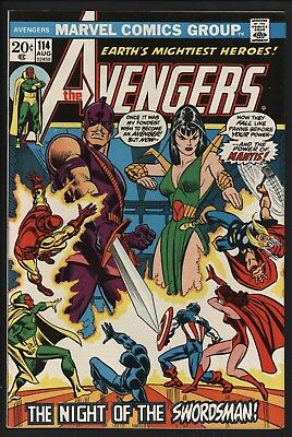 Avengers #114  Vs  Mantis & Swordsman! Very Glossy Cents Copy With White Pages