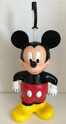 Vintage Large Disney Mickey Mouse Super Sipper Cup with straw