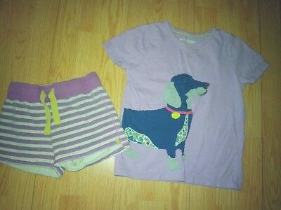 Mini Boden Dog 2 Piece Girls Play Outfit Size 6-7-8