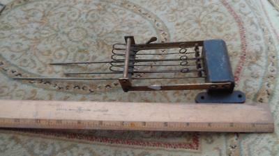 """Vintage Clock 5 Bar Chime 7.5 to 10"""" Long Missing 2 Rods   Weight 1.6 Lbs  #14"""