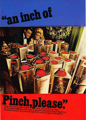 1967 Peter & Cheray Duchin Photo Pinch Scotch print ad