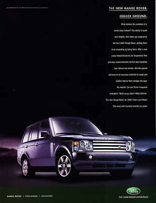 "2003 Land Rover Range Rover photo ""Evolution"" print ad"
