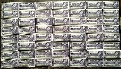 1992-2007 Lot of 56 Vintage Canadian Tire 25 Cent Notes - Free Combined S/H