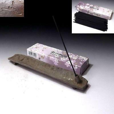DK6: Japanese Incense Sticks, OKO with Pottery Incense Stick Stand, Bizen ware