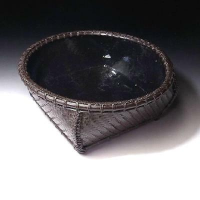 DK4: Vintage Japanese Bamboo Basket for Charcoal, Sumikago, Sumitori