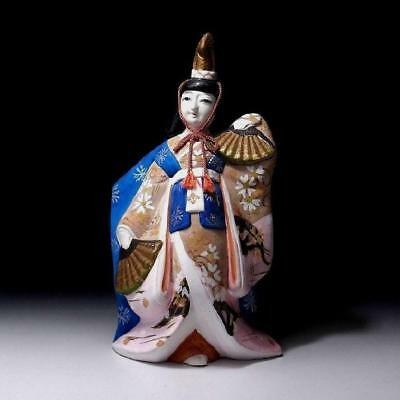"""CO1: Japanese Clay Doll, Traditional Crafts, Noh play actress, Height 11.8"""""""