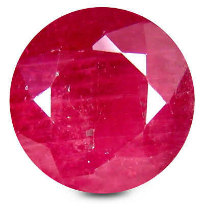 5.25 ct AA+ Incomparable Round Shape (9 x 9 mm) Red Ruby Natural Gemstone