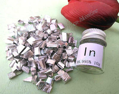 10 grams High Purity 99.995% indium  in Metal Lumps