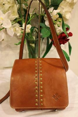 "Patricia Nash ""Armeno"" Leather Stud Detailed Flap-over Messenger (800"