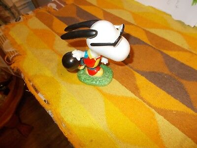Vintage    Snoopy    Ceramic    Figure    Bowling  Near  Mint  Rare