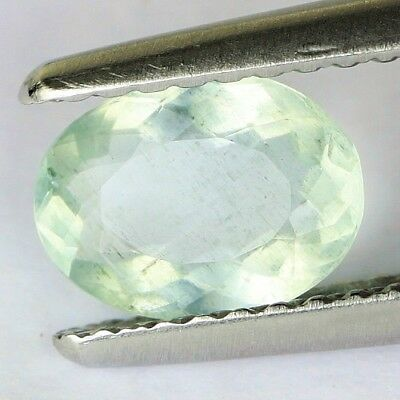 #*0.80 cts. 7.5 x 5.7 mm. UNHEATED NATURAL BLUE AQUAMARINE OVAL BRAZIL