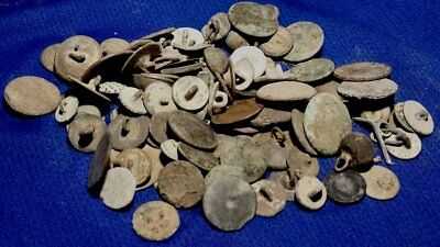 100!  Revolutionary War  / Fr & I War Etc. Dug Buttons - All Old