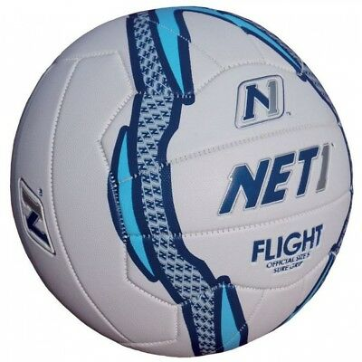 NET1 Flight Netball White Blue and Foil 4